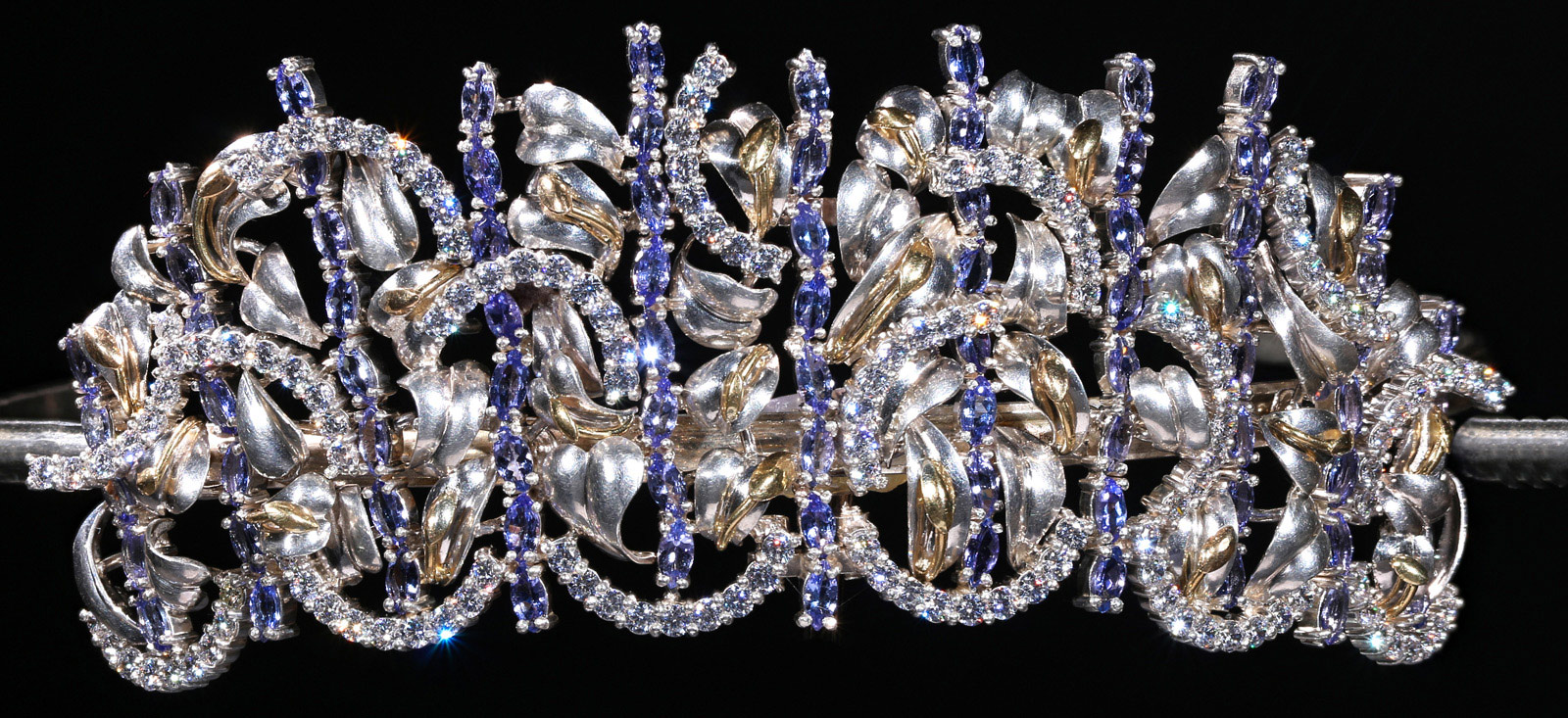 Princess Consuela Tanzanite with Diamond Tiara in hallmarked 18ct Gold and Silver