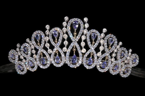 Princess Gaiya Tanzanite with Diamond Tiara